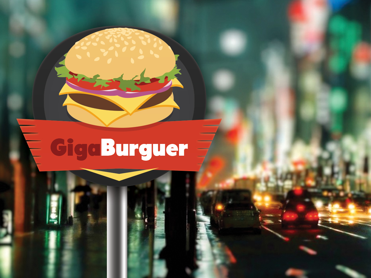 Giga Burguer Side Walk Concept