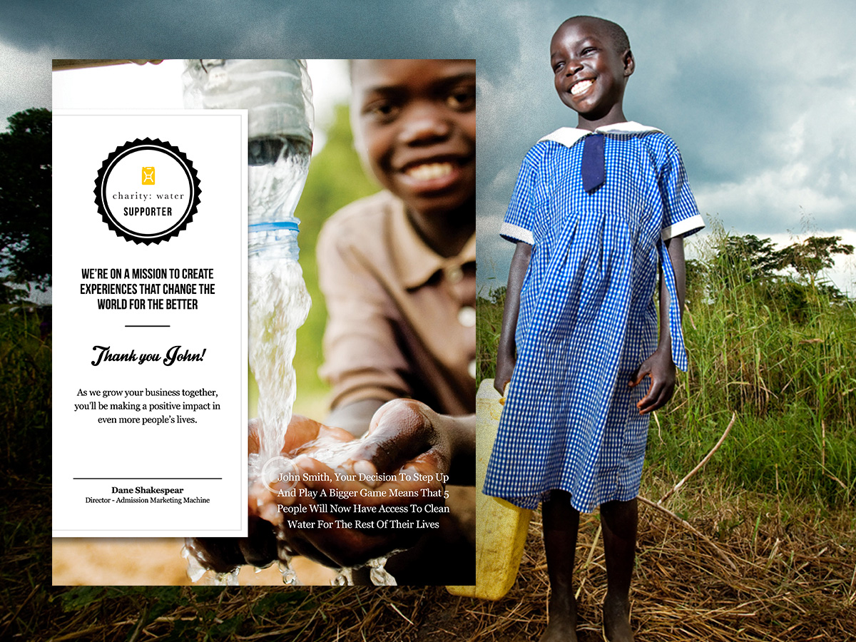 Charity Water Vertical Card