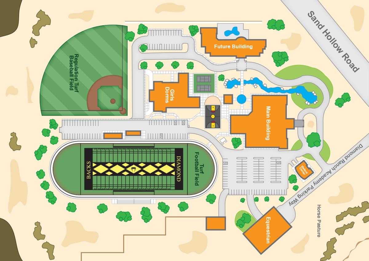 Diamond Ranch - Campus Map