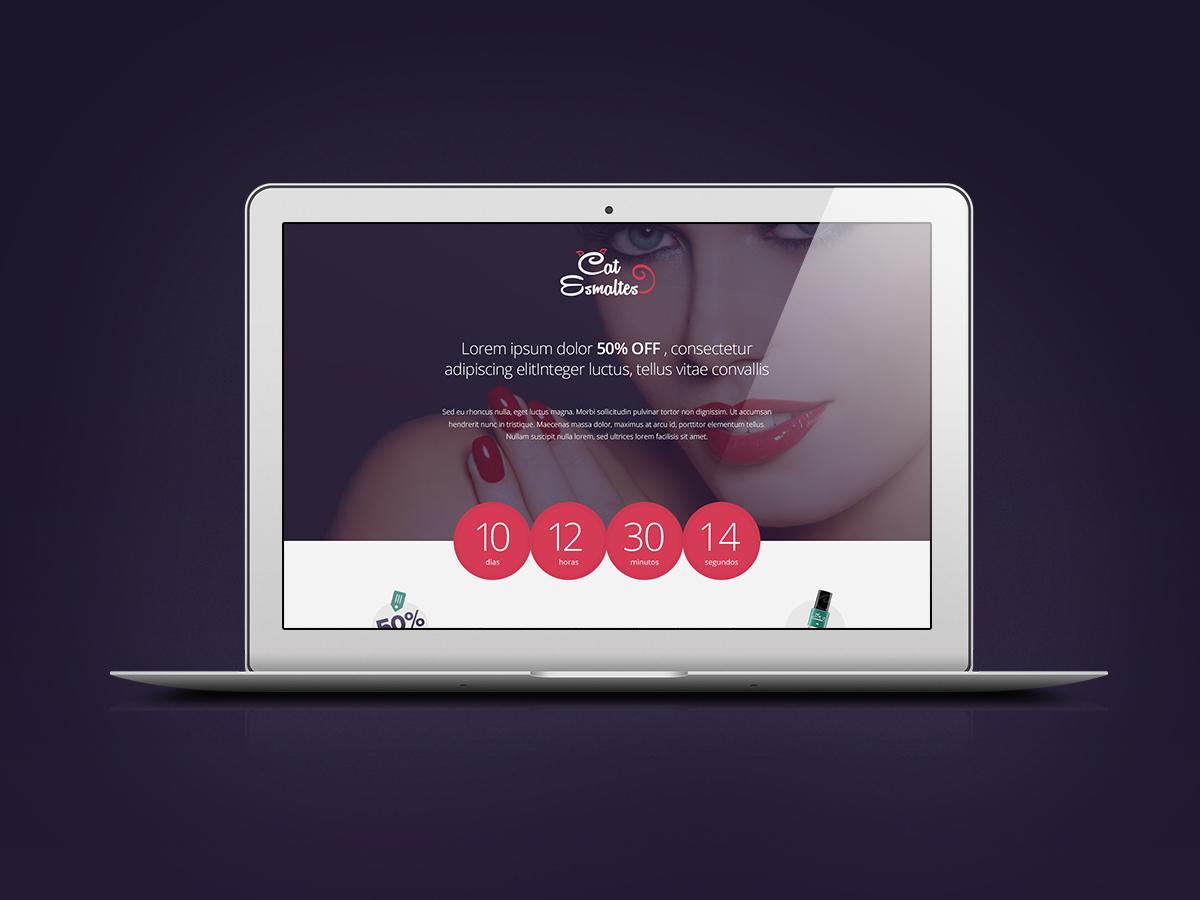 Cat Esmaltes - Launch Page