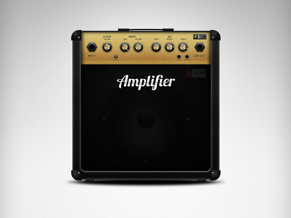 Guitar Amplifier - Full View