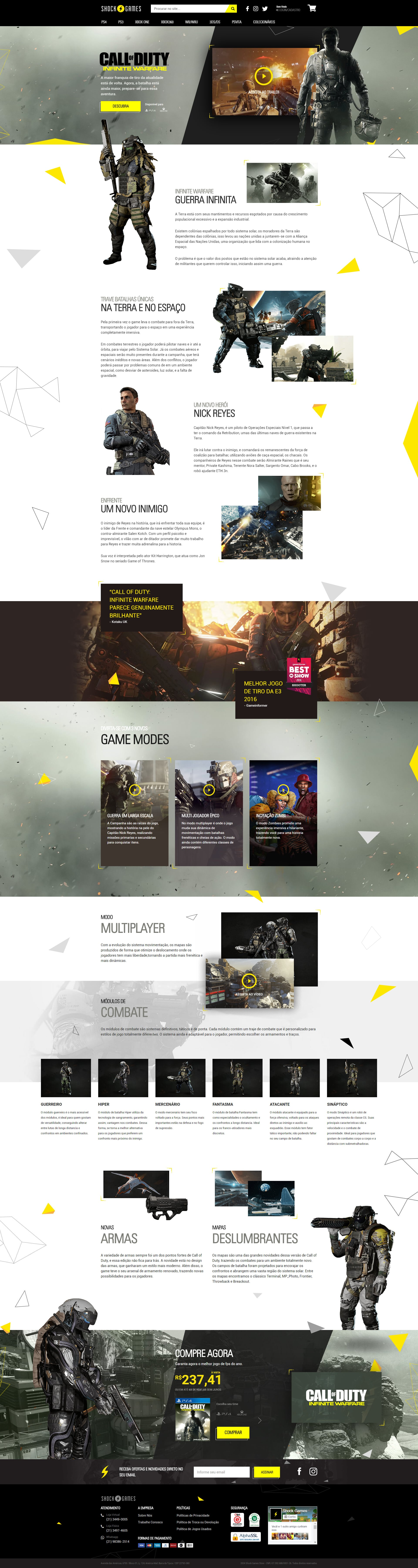 Call of Duty Landing Page by Rafael Oliveira