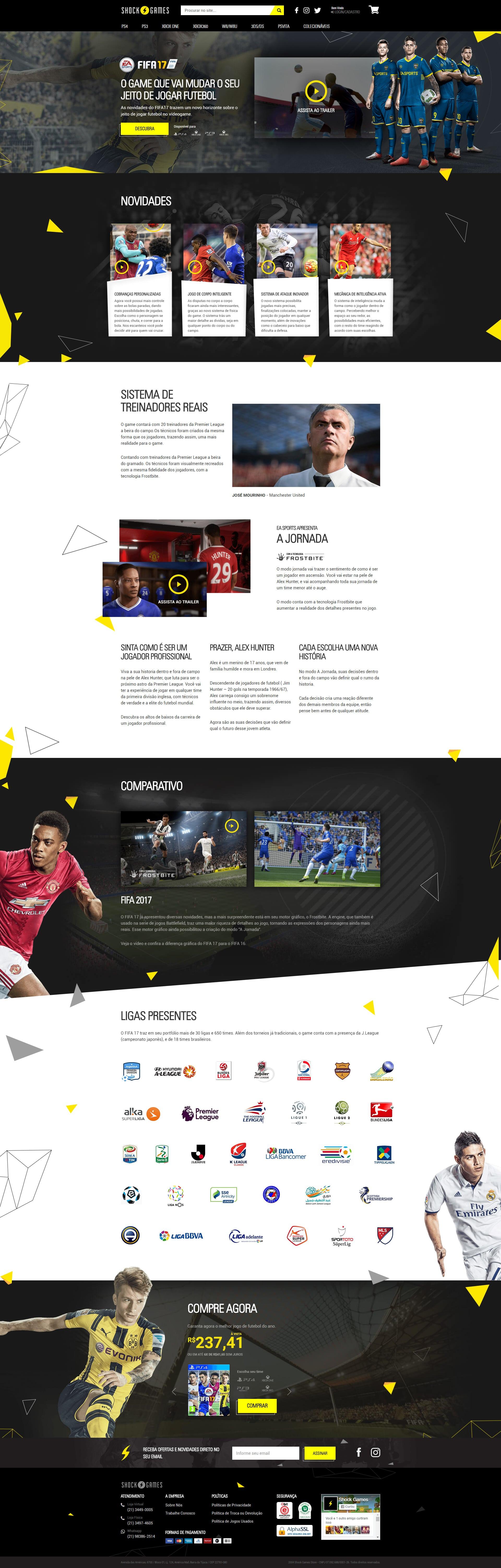 Fifa 2017 Landing Page by Rafael Oliveira