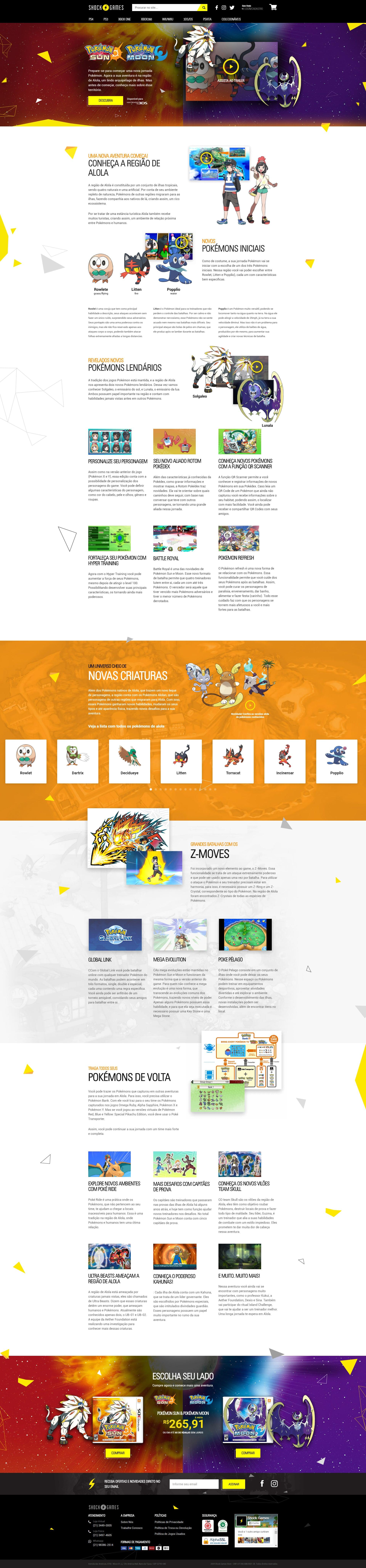 Pokemoon Sun & Moon Landing Page by Rafael Oliveira