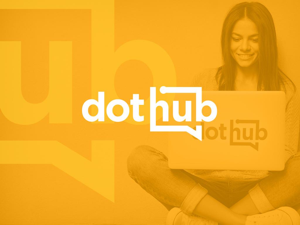 Logotipo DotHub + Apresentação Key Note