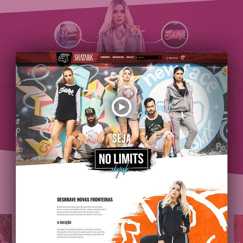 Landing Page Coleção No Limits – Shatark